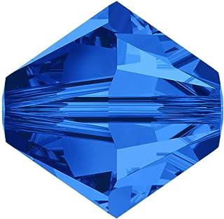 施华洛世奇双锥体水晶珠耳环手链项链脚链吊坠钥匙扣拉链瑜伽首饰制作用品配件 13) Sapphire 6mm 750253034337