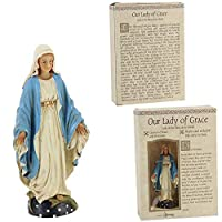 """Our Lady of Grace Statue - 3.5"""" Ceramic Painted (Roman 5028-3)"""