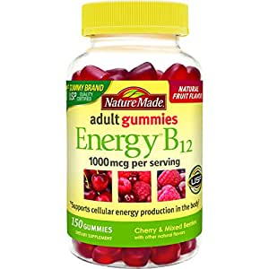 Nature Made Energy B12 Adult Gummies (1,000 mcg per serving) Value Size 150 Ct