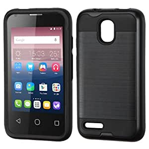 Asmyna Cell Phone Case for Alcatel 4 - Retail Packaging - Black
