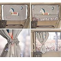汽车遮阳帘适用于婴儿儿童侧窗 - 汽车遮阳保护膜 - 阻挡 95% 以上的紫外线和阳光炫光设计汽车内饰*盲孔 马
