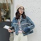 牛仔服系列 新款韩版简约百搭毛边短款牛仔外套女 夹克短外套 149元