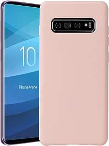 三星 Galaxy S10 Plus 手机壳,原装硅胶软壳适用于三星 Galaxy S10 Plus 手机壳 粉红色