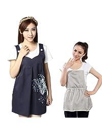 JINBBNET防辐射服 301新款孕妇装 藏青马甲+银纤维围裙