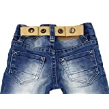 SISTER 选定可调节搭扣腰带适用于婴儿和幼儿男孩 & 女孩裤子 . 蓝色
