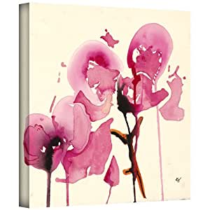 Art Wall Karin Johannesson 'Orchids I' Gallery-Wrapped Canvas Artwork, 24 by 24-Inch