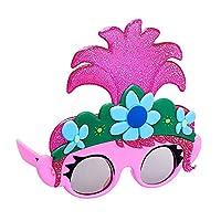 官方* Trolls 世界巡回赛罂粟色服装派对喜爱太阳镜 UV400 粉色