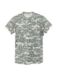 RapDom 素色迷彩短袖 G.I。 男式 T 恤