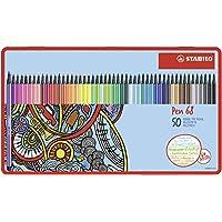 高级毡笔 - STABILO Pen 68-50支金属盒 - 46种不同颜色