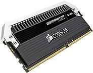 Corsair 海盗船 Dominator Platinum cmd64gx4 m4 C3000 C15 64 GB (4 x 16 GB) DDR4 3000 Mhz C15 XMP 2.0 台式电脑主存储器-Kit