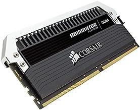 Corsair 海盜船 Dominator Platinum cmd64gx4 m4 C3000 C15 64 GB (4 x 16 GB) DDR4 3000 Mhz C15 XMP 2.0 臺式電腦主存儲器-Kit – 黑色