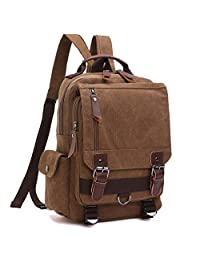 学校背包,复古旅行背包,男式/女式,帆布学院书包日包