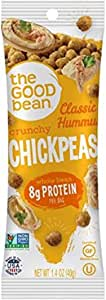 The Good Bean Chickpea Snacks Grab & Go, Classic Hummus, Gluten and Nut Free, 10 Count, 1.4 Ounce
