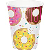 Creative Converting 322293 96 只 9 盎司热/冷纸杯,甜甜圈时间
