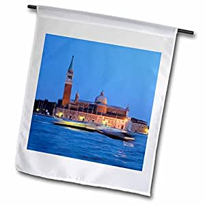 danita delimont–威尼斯–意大利,威尼斯 . 水 taxis AT NIGHT–EU 16cmi0613–cindy Miller Hopkins–旗帜 12 x 18 inch Garden Flag