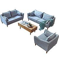 百伽 北欧简约组合沙发小户型客厅家具整装现代布艺单双三人沙发65899/65900/65901 灰色【亚马逊自营,供应商配送】