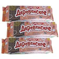 5袋 甜蜜农庄 俄罗斯进口 饼干 220g/袋 休闲零食 (可可饼干)