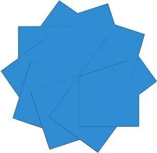 U-ZM 热转印乙烯基 HTV 套装 30.48 厘米 x 25.4 厘米 10 张 熨烫乙烯基 适用于十字和剪影浮雕宝石 Fluorescence Blue U-ZM(Heat Transfer Vinyl 019)