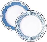 fcchenroyter ectele & 蓝色 盘子对 21cm ETL P