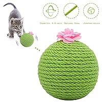 GiftParty 猫咪玩具剑麻仙人掌球抓铃球环保天然宠物玩具互动玩具咬耐磨耐用