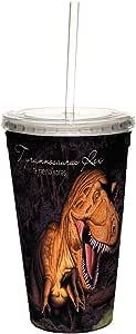 无树问候语 CC35953 冷杯,双壁 不含吸管和盖子旅行隔热杯 T. Rex 1 16 盎司 35893