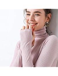 唐岚 羊绒衫高领秋冬加厚修身抽条打底套头毛衣女针织衫长袖大码宽松