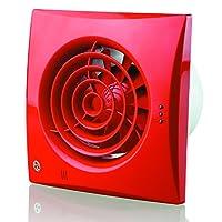 Blauberg UK 100 静音 TP 红色 100 毫米抽取器风扇 带PIR 检测器 - 红色 红色 150 mm 150 Quiet TP Red