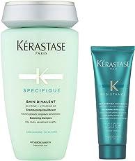 KERASTASE 卡诗 头皮系列双重功能洗发水250ml+丝韧焕活调理乳75ml(进)