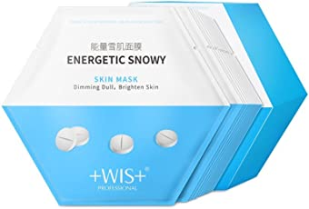 WIS能量雪肌面膜24片补水保湿提亮肤色控油改善暗黄清洁面膜贴