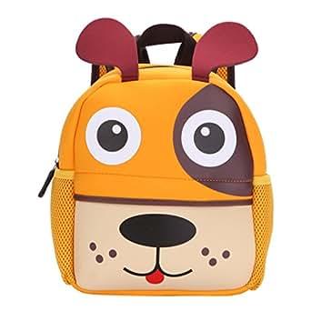Agsdon 防水书包/背包儿童午餐盒手提袋/学前幼儿背包男孩女孩带快速 Access 前袋适用于 snacks 小狗