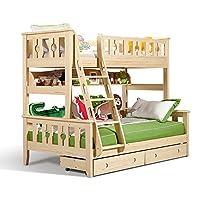 多喜爱 AOK 儿童松木高低床上下床 孩子子母床实木双层床WDA601 (1350 * 2000mm挂梯款不含书架拖箱)