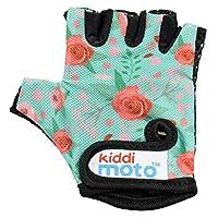 Kiddimoto 儿童无指骑行手套,适合女孩和男孩自行车、平衡自行车、滑板车和滑板