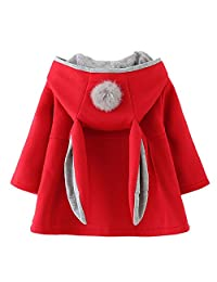 Favorland 女婴幼童秋冬外套夹克外套耳朵连帽连帽衫