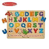 Melissa & Doug 字母表有声拼图,木制带声效拼图,26片