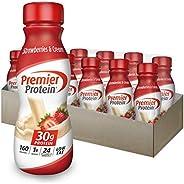 Premier Protein 30g Protein Shake, Strawberries & Cream, 11.5 Fl Oz Bottle, (12Co