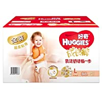 HUGGIES 好奇 金装成长裤 裤型纸尿裤 男女通用 箱装大号 L号88片