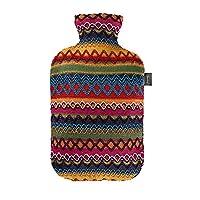 Fashy 6757 25 2007热水袋 / 熱水瓶带套在秘鲁 – 设计2.0 L, 棕色 – 粉红色