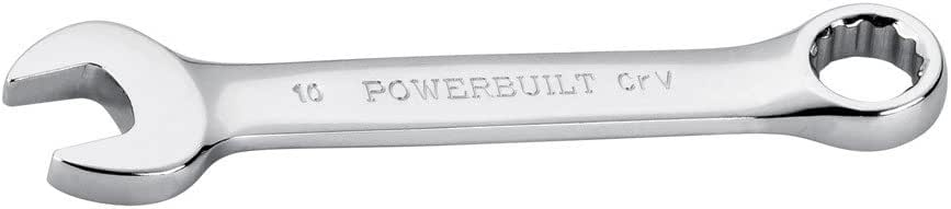 Powerbuilt 641788 Metric Mirror Polish 10 mm Stubby Combination Wrench
