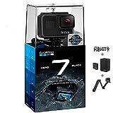 GoPro hero7 black运动相机水下潜水 4K户外直播防水运动摄像机 官方标配+三向自拍杆+双充电池+64G卡+包 gopro7 black黑色(4K.60帧支持直播)