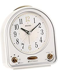 SEIKO CLOCK (セイコークロック) 目覚まし時計 31曲メロディアラーム 白パール QM747W