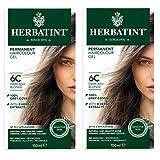 Herbatint 6C 深灰色金发持久*剂(2 瓶装)不含*精和氨,每个 122.24 毫升