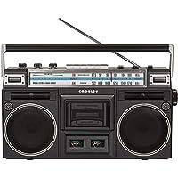 Crosley CT201A-BK 復古藍牙 Boombox 磁帶播放器 帶 AM/FM 收音機和低音增強器
