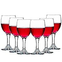 Libbey 利比 9942科珀葡萄酒杯295ml(6只)无铅水晶玻璃烈酒杯红酒杯高脚杯(亚马逊自营商品, 由供应商配送)