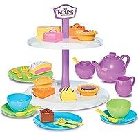 Casdon Little Cook 英国茶和蛋糕套装角色扮演玩具,多色