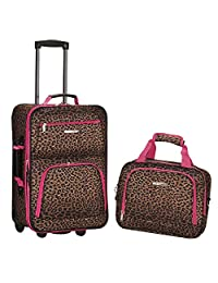 Rockland 行李2件套 Leopard/Pink 均码
