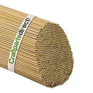 木制定位杆 - 0.32 cm x 91.44 cm 未抛光硬木棒 - 适用于工艺品和 DIY 工匠 - 手工零件直销 未抛光木 Bag of 25 BD012525