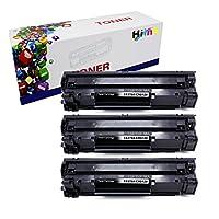 HI INK 3 包 CRG128 78A CE278A 墨粉盒適用于 HP LaserJet Pro P1560 P1566 P1600 P1606 M1536 佳能圖像 D530 D550 傳真電話 L100 L190 MF4770n MF4570dw MF4770N(黑色 3 件裝)