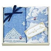 Stylem 花王 面巾 蓝色 34×75厘米 轻松思慕 2件套 日本制造 化妆箱装 LX5920