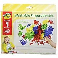 """Crayola 绘儿乐 """"我的初次""""幼儿手指颜料画,包含绘画纸,礼盒装"""