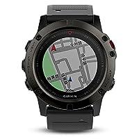 GARMIN 佳明 fenix5X DLC蓝宝石镜面国行中文版 多功能光电心率北斗GPS三星定位中国大陆地图导航手表 运动户外登山骑行游泳跑步智能腕表(1.2寸 51mm)
